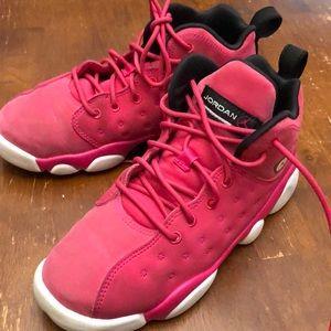 Girls pink air Jordan's